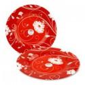 Инвитейшен тарелка д-20 см, красная (набор 6 шт.)