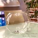 Ваза стеклянная-аквариум 7,7литров, h-200мм, d-250мм