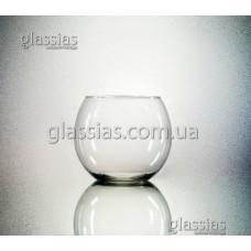 Ваза стеклянная-аквариум 0,7 литров, h-100мм, d-120мм